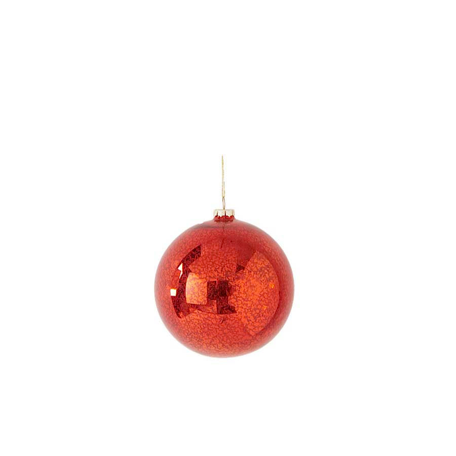 Red Mercury Shatterproof Round Ornament -5.5 Inch