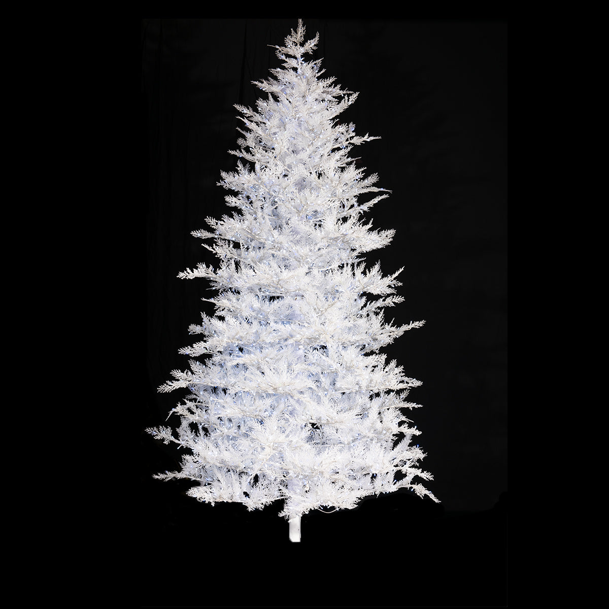 Alpine Frost, Blue and White LED Cluster Pre-Lit Tree
