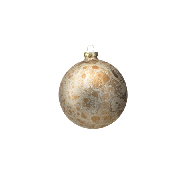 Antique Gold Ball Ornament - Small