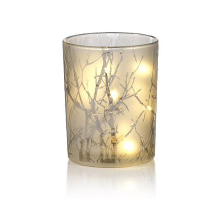 Branch Etched LED Hurricane - Medium