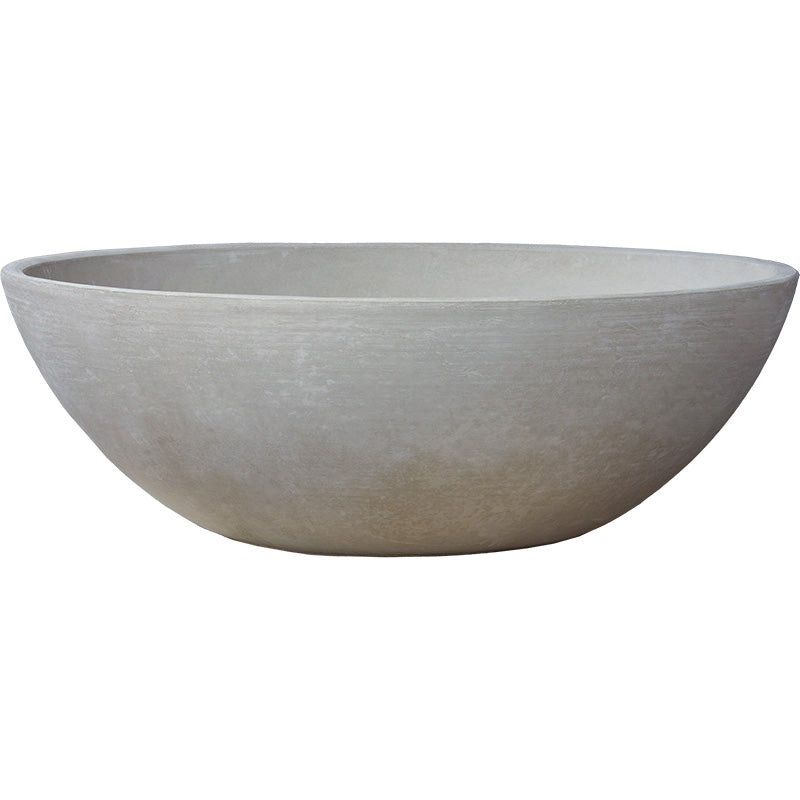 "Modern Bowl Planter 33"" Natural"