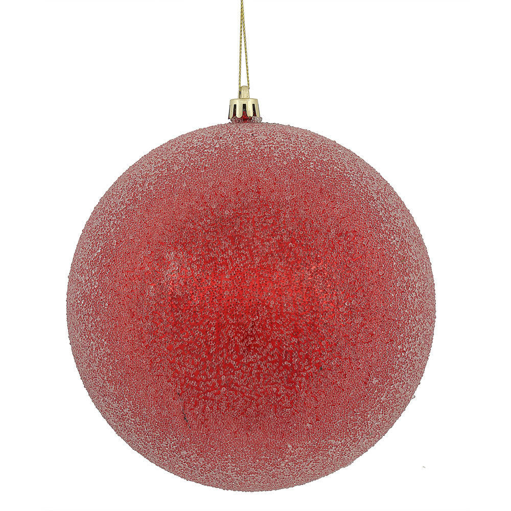 "4"" Red Iced Ball"