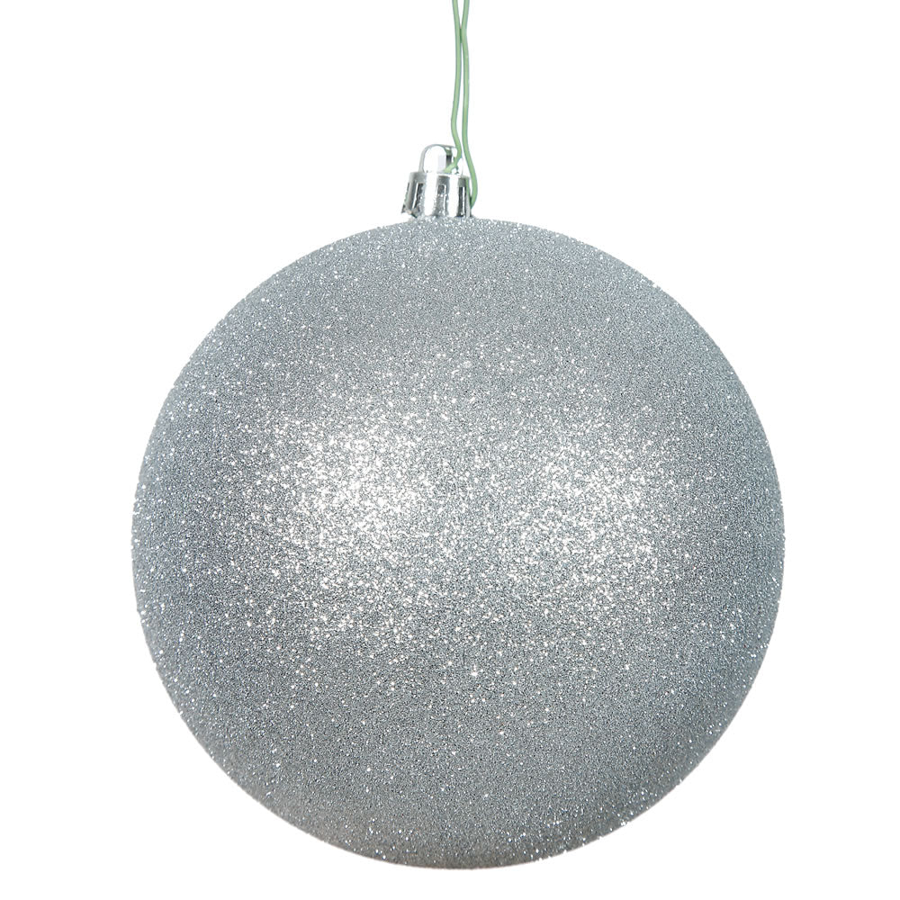 "3"" Silver Glitter Ball Drilled"