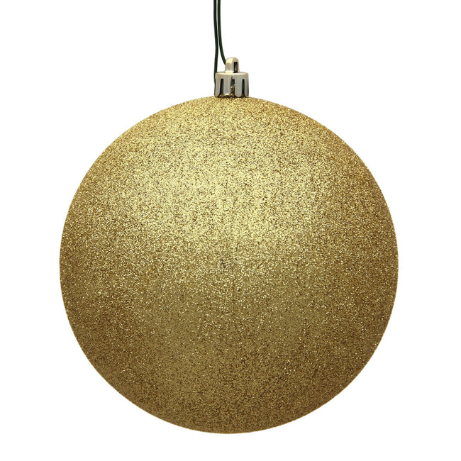 "8"" Gold Glitter Ball Drilled Cap"