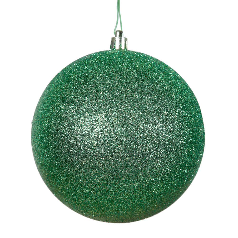 "6"" Green Glitter Ball Drilled"