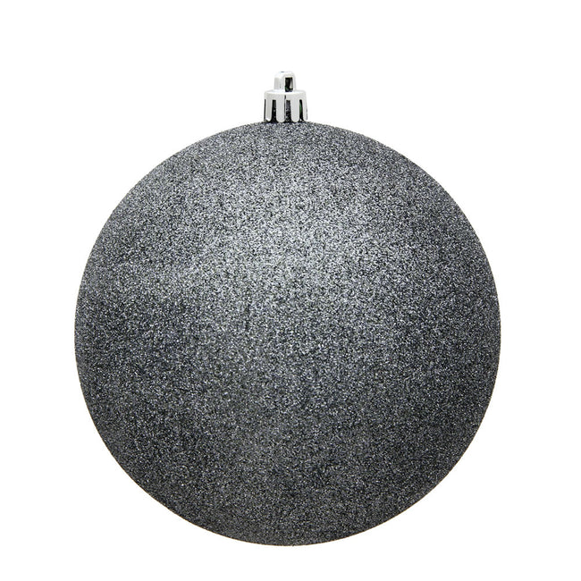 "8"" Pewter Glitter Ball Drilled Cap"