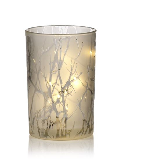 Branch Etched LED Hurricane - Large