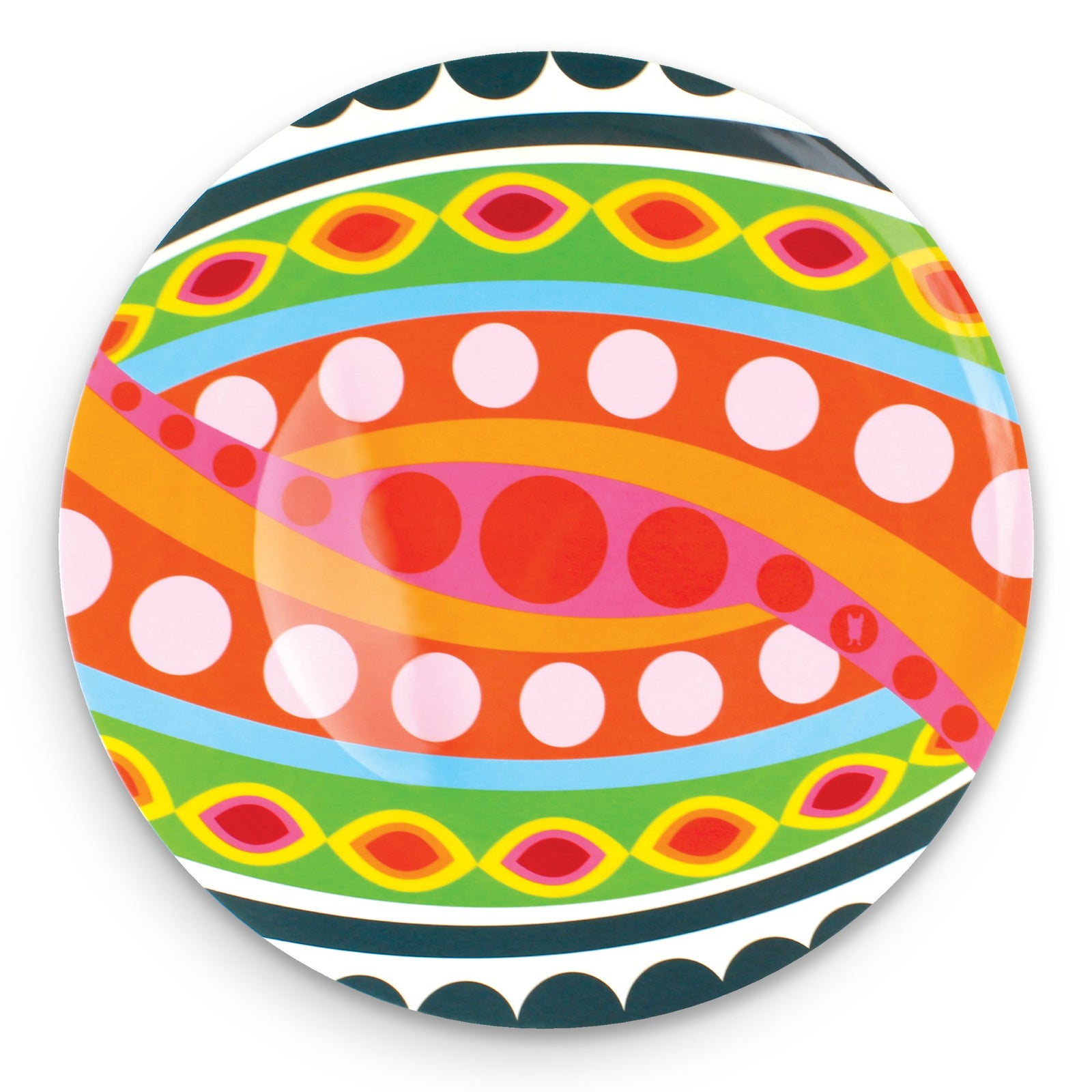 French Bull - Melamine Serving Platter - 15-1/2-Inch Round Serving Tray