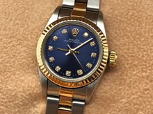 LADIES ROLEX OYSTER PERPETUAL 18CT GOLD/STEEL