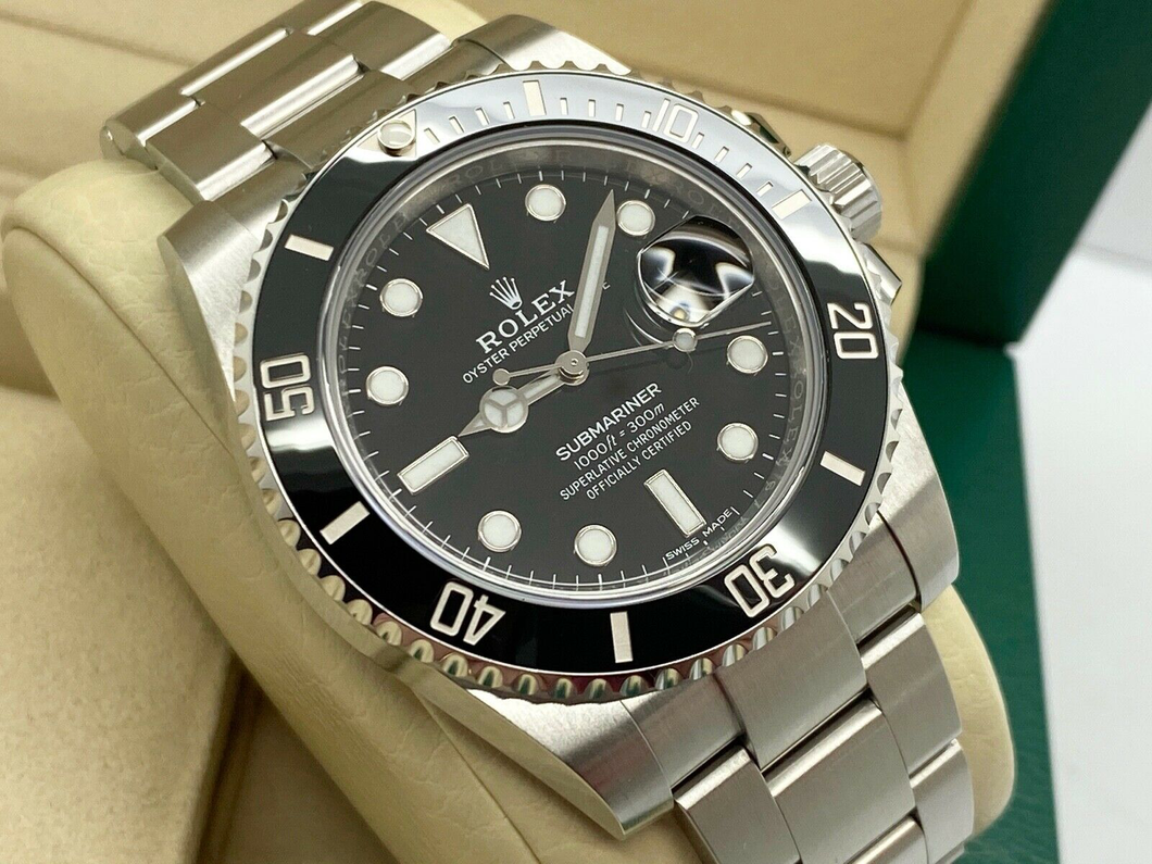 GENTS ROLEX SUBMARINER DATE 40MM STAINLESS STEEL UK 2018
