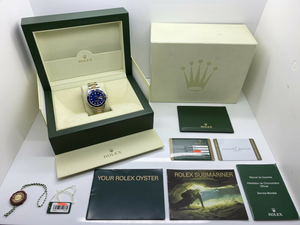 GENTS ROLEX SUBMARINER DATE 18CT GOLD/STEEL WARRANTY UK 2008