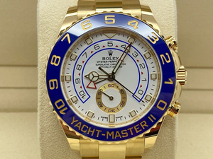 GENTS ROLEX YACHT-MASTER II 44MM 18CT YELLOW GOLD STICKERS UK 2020