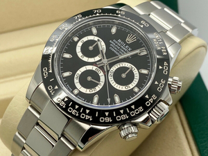 GENTS ROLEX COSMOGRAPH DAYTONA STAINLESS STEEL BLACK DIAL 2017