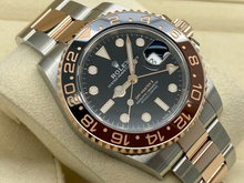 GENTS ROLEX GMT-MASTER II ROOT BEER ROSE GOLD/STEEL 10 YEAR WARRANTY 2019
