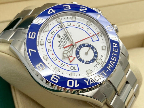 GENTS ROLEX YACHT-MASTER II 44MM STEEL STICKERS 10YR WARRANTY UK 2021