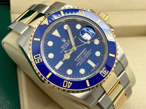 GENTS ROLEX SUBMARINER DATE 40MM 18CT GOLD/STEEL UK 2020