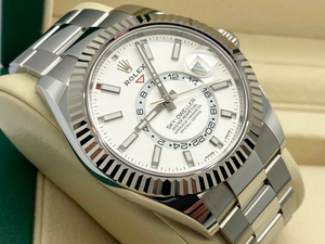 GENTS ROLEX SKY-DWELLER STAINLESS STEEL STICKERS UNWORN 2020