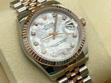 LADIES ROLEX DATEJUST 31MM ROSE GOLD/STEEL WHITE MOP DIAMOND 2018