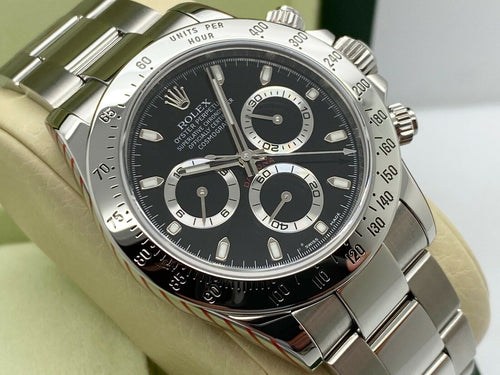 GENTS ROLEX DAYTONA STAINLESS STEEL ROLEX SERVICE STICKERS 2011