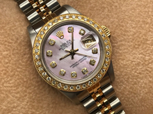 LADIES ROLEX DATEJUST 18CT GOLD/STEEL