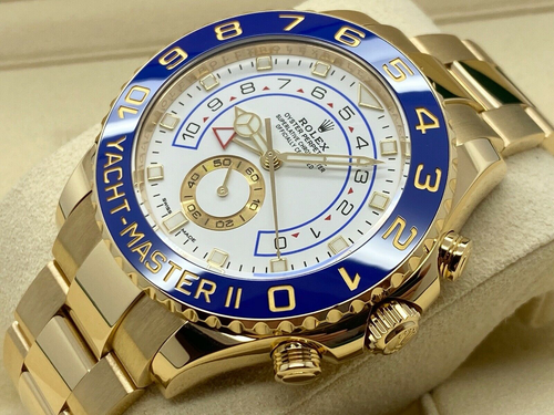 GENTS ROLEX YACHT-MASTER II 44MM 18CT YELLOW GOLD 2019 UK