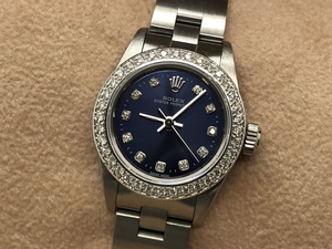 LADIES ROLEX OYSTER PERPETUAL STAINLESS STEEL