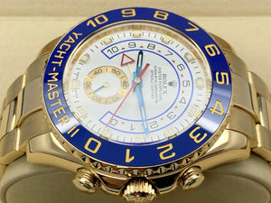 GENTS ROLEX YACHT-MASTER II 44MM 18CT YELLOW GOLD ROLEX SERVICE 2012