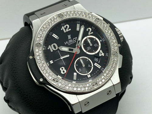 HUBLOT BIG BANG 44MM CHRONO FACTORY DIAMOND BEZEL 2012