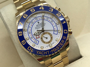 GENTS ROLEX YACHT-MASTER II 18CT YELLOW GOLD 44MM