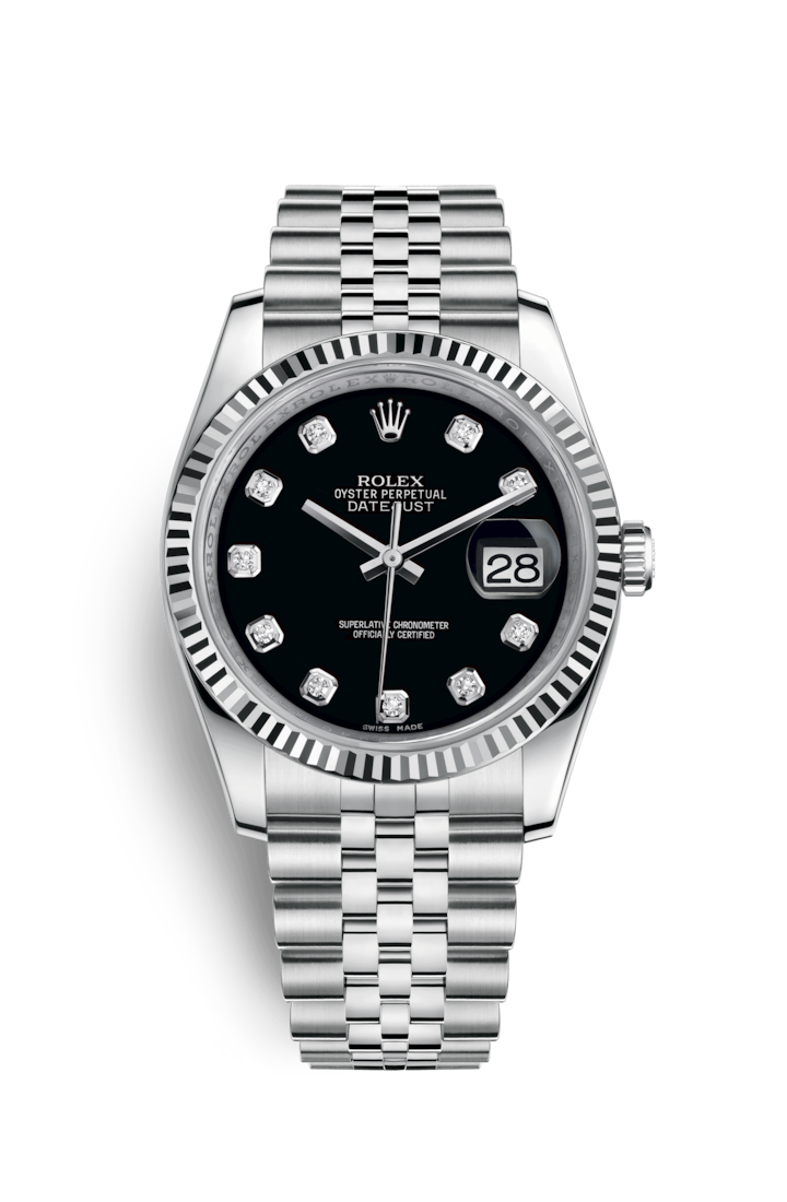 DATEJUST 36 OYSTERSTEEL AND WHITE GOLD