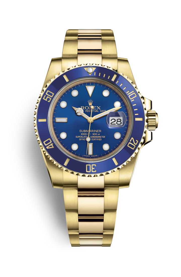 SUBMARINER DATE 18 CT GOLD