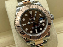 GENTS ROLEX YACHT-MASTER 40 ROSE GOLD/STEEL CHOC DIAL STICKERS UNWORN 2020