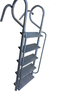 Aluminum Angled Swing Wide Step Ladder