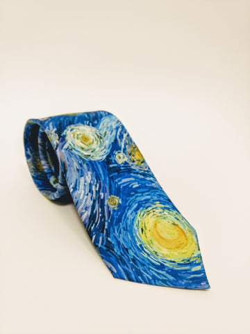 Silk Tie Starry Night