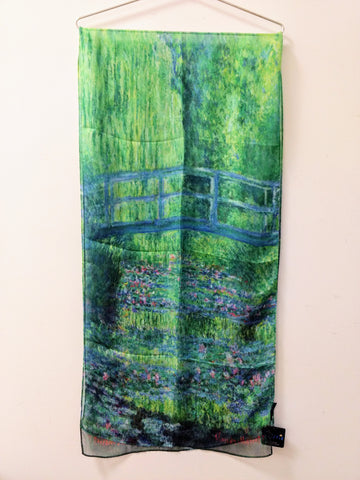 "Monet "" Japanese Bridge "" Scarf"