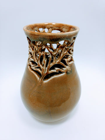 Kiya Leaf Ceramic Vase