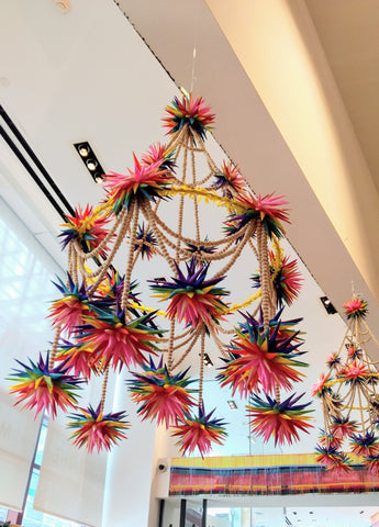 Rainbow Pajaki Chandelier