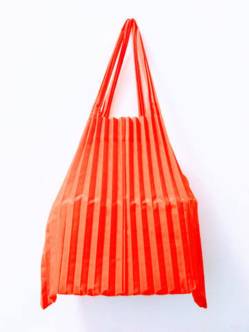 Orange Pleated Loqi Bag