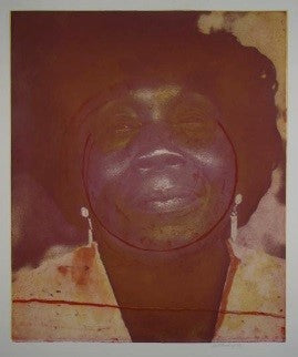 "Frank Bowling, ""Mother Approaching Sixty"""