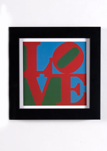 Framed LOVE Sculpture Print