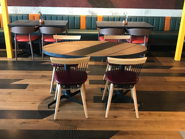 Nandos - Manchester - Denton - WW Chairs - Oak & Black