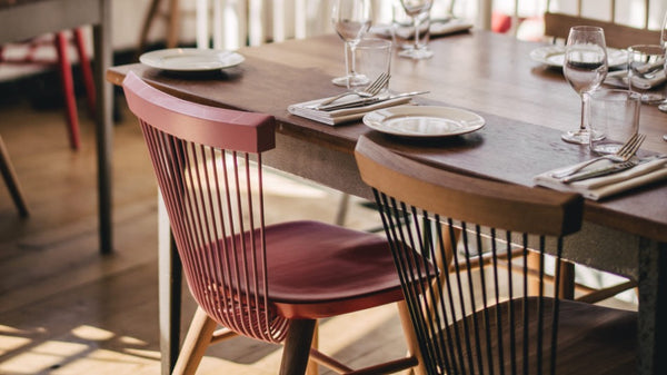 WW Chair - Brawn Restaurant - East London - Multi-Coloured Dining Chairs