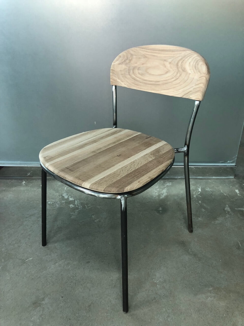 Bistro Chair - 1859 - Metal and Wood - Shaped Cafe Chair - Hayche Furniture - HAYCHE.com