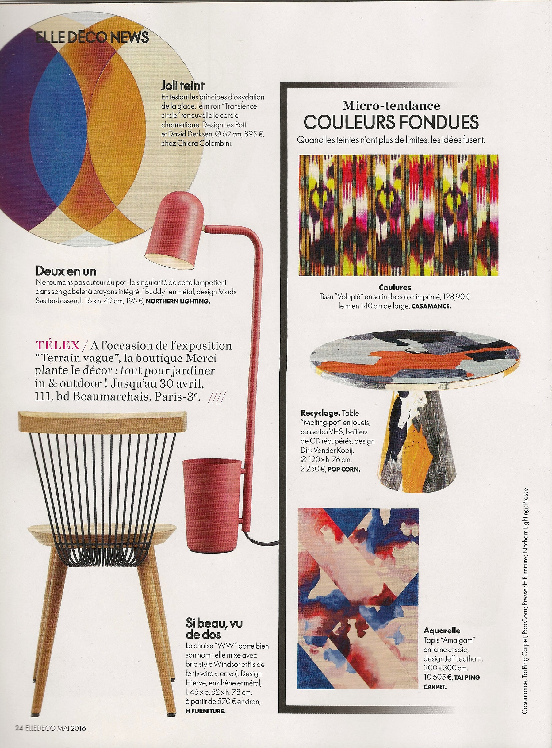 Hayche.com / H Furniture - Elle Decoration France - May 2016
