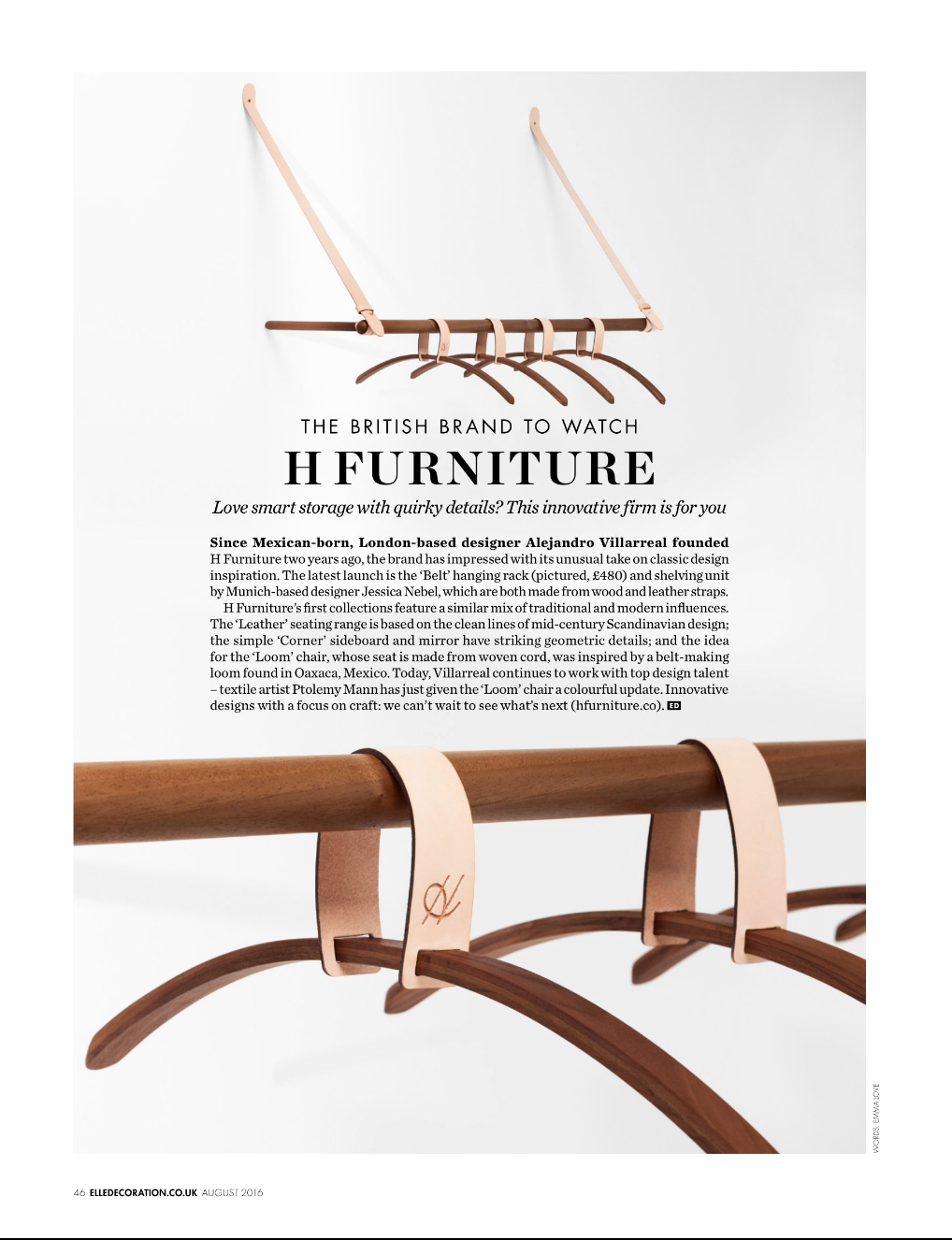 Hayche.com / H Furniture - Elle Decoration - August 2016