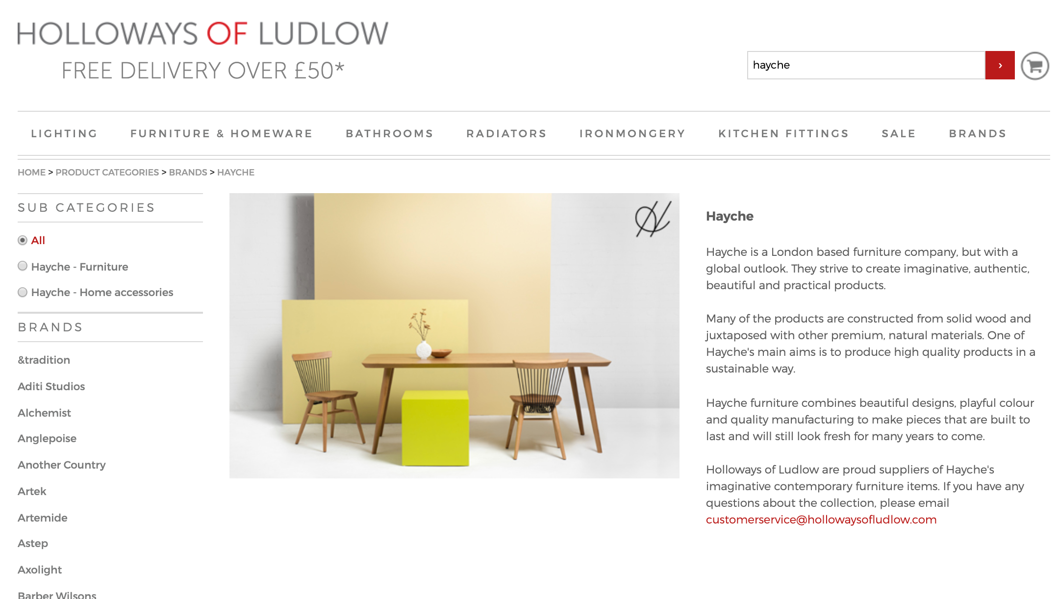 Holloways Of Ludlow - Hayche - Modern Contract Furniture - London