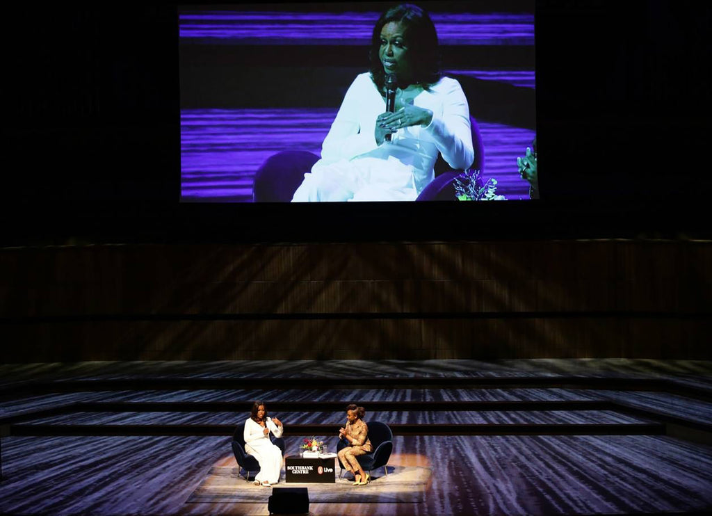 Michelle Obama, London, Pie Chart Table, Royal Festival Hall