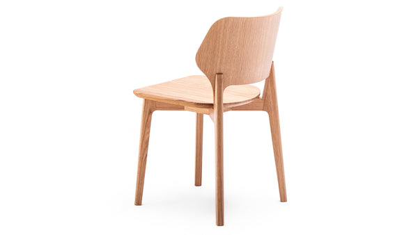 Back Dining Chair - Natural Oak - Daniel Schofield - Modern Contract Furniture - Hayche - Clerkenwell London