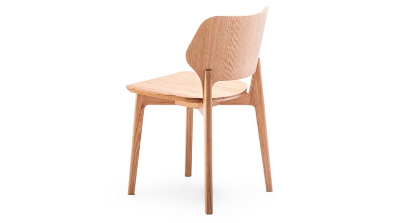 Oak Backer Plywood & Solid Oak Dining Chair Daniel Schofield - Modern Contract Furniture Hayche