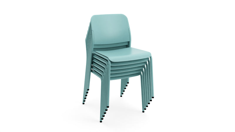 Beattie - Stackable Turquoise Plastic Chair - Contract Furniture - Hayche London